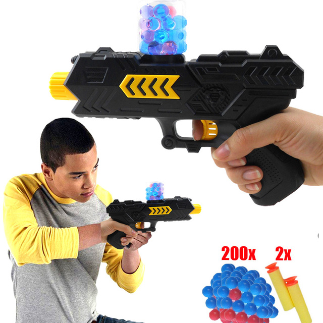 2in1 Water Soft Nerf Gun Bullet Pistol Crystal Darts Pistol Bullets Kids  Toy Set Pistola De