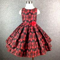 2 14T Brand Big Flower Girl Dress Princess Tutu Party Wedding Dresses For Girls Christmas Style