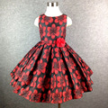 2-14 t marca big flower girl dress princess tutu vestidos para meninas vestido de festa de casamento de natal estilo sweet crianças vestir