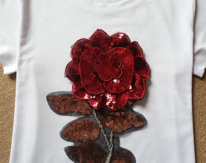 HTB1pvtPJFXXXXc3XVXXq6xXFXXXq - New Summer women t shirt fashion cotton female rose flower tops t-shirt
