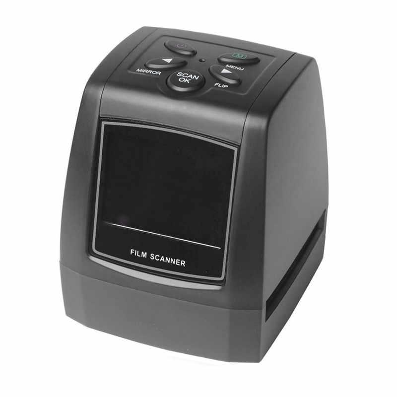 Сверхвысокую Разрешение фото сканер 35/135 мм скользящая пленка цифровой сканер USB пленочный конвертер 2,36 ЖК-дисплей экран Бизнес сканер визитных карточек