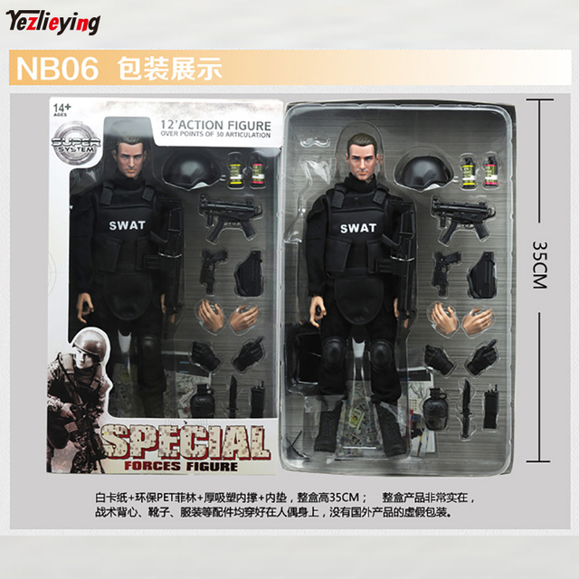 1/6 Scale accessories model action figure SWAT NB06 Special police Force Military Army for 12″Combat Counter-terrorism Set Toy