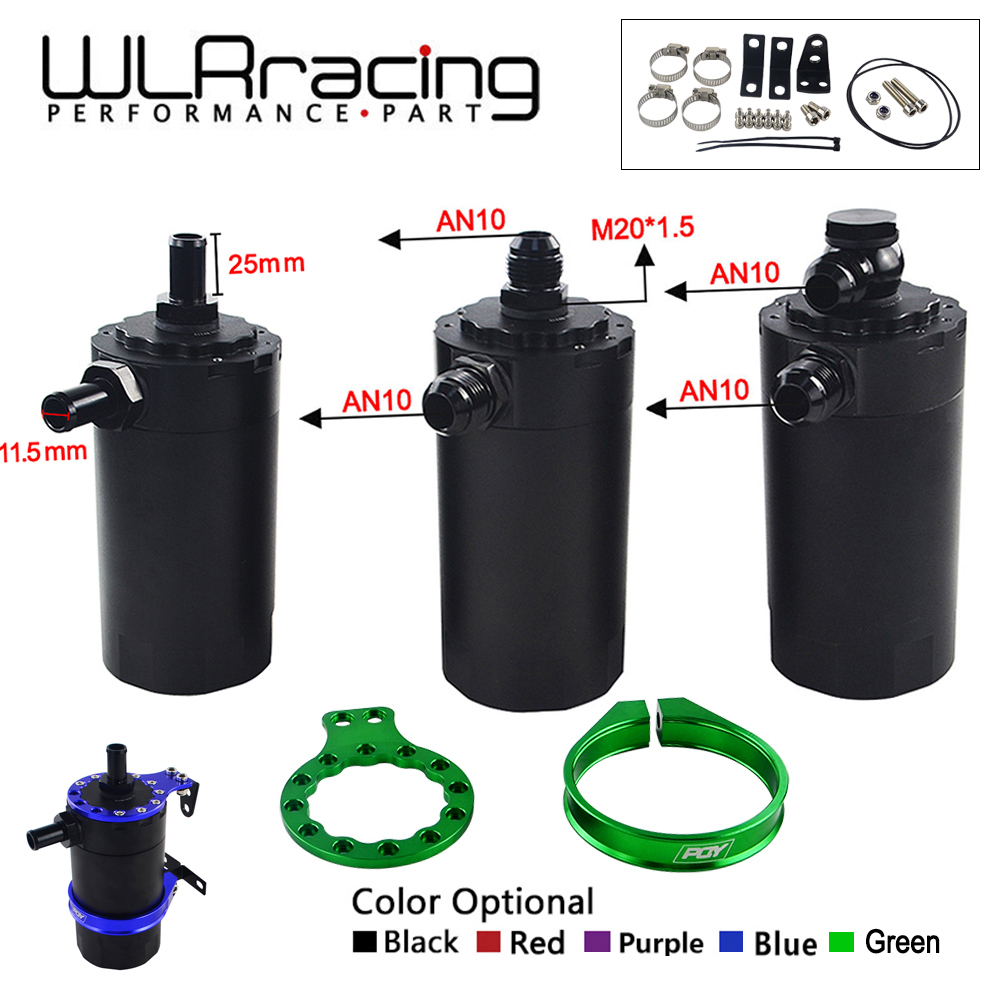 WLR RACING-Dérouté En Aluminium Catch Oil Can Réservoir Réservoir Kit réservoir D'huile WLR-TK25/26/27