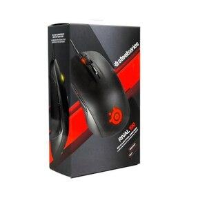 Image 5 - Nova marca steelseries rival 100 rato do jogo ratos usb com fio óptico 4000dpi mouse com prisma rgb iluminação para lol cs