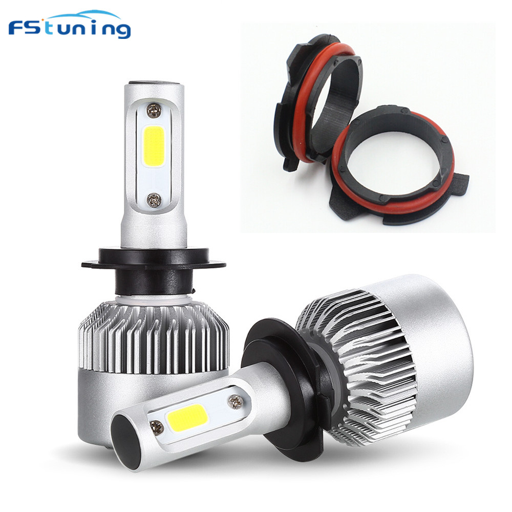 FSTUNING H7 Adapter+headlight for BMW 5 series E39 E60 E61 F10 F11 F07 F85 G30 G31 G38 h7 led socket adapter h7 bulb holder цены