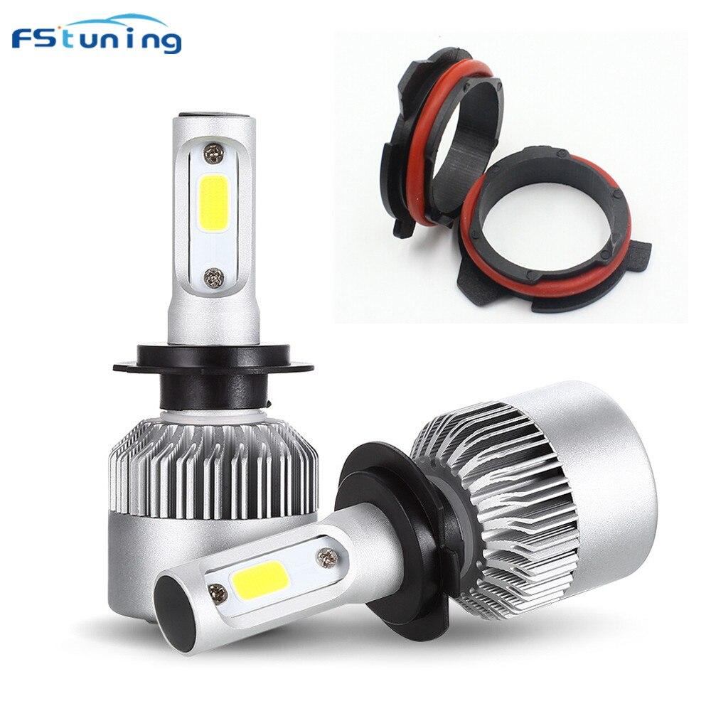FSTUNING H7 Adapter + scheinwerfer für BMW 5 series E39 E60 E61 F10 F11 F07 F85 G30 G31 G38 h7 led sockel adapter h7 birne halter