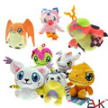 Digimon Adventure Plush Toys 12 cm Agumon Gabumon Gomamon Biyomon Palmon Patamon Digital Monster Stuffed Dolls for Kids Gift