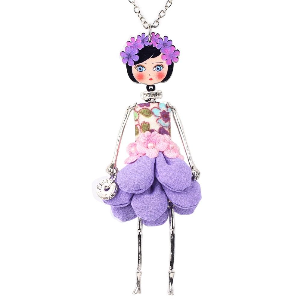 Bonsny avaldus lille nukk kaelakee kleit käsitöö prantsuse nukk - Mood ehteid - Foto 4