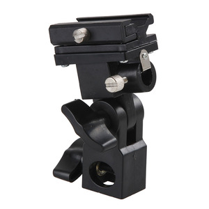 Image 2 - Camera Flash Light Hot Shoe Adapter with Umbrella Hole Tripod Light Stand Bracket Holder Mount SB600 580EX YN560 Speedlite (B)