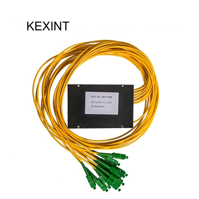 Wholesale 1X12 Single Mode Dual Window FBT Coupler 3.0mm with connector SC/APC 2pieces