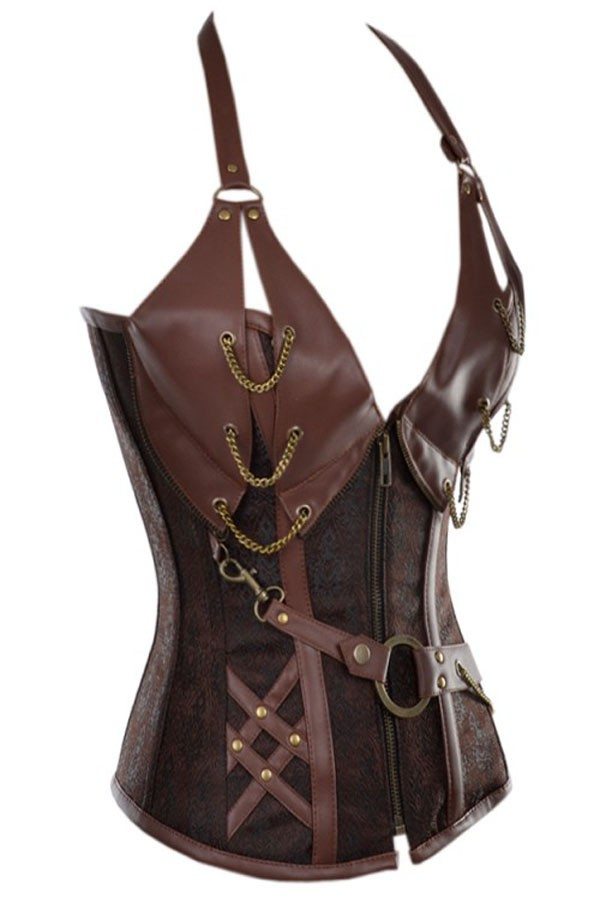 14-Steel-Bone-Steampunk-Leather-Corset-with-Thong-LC5401-7