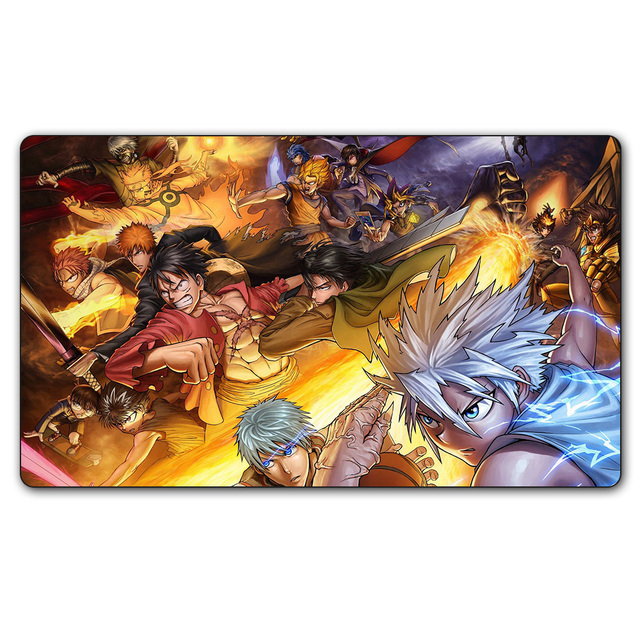 80 ygo playmat 14x24 inches yu gi oh many anime characters play mat