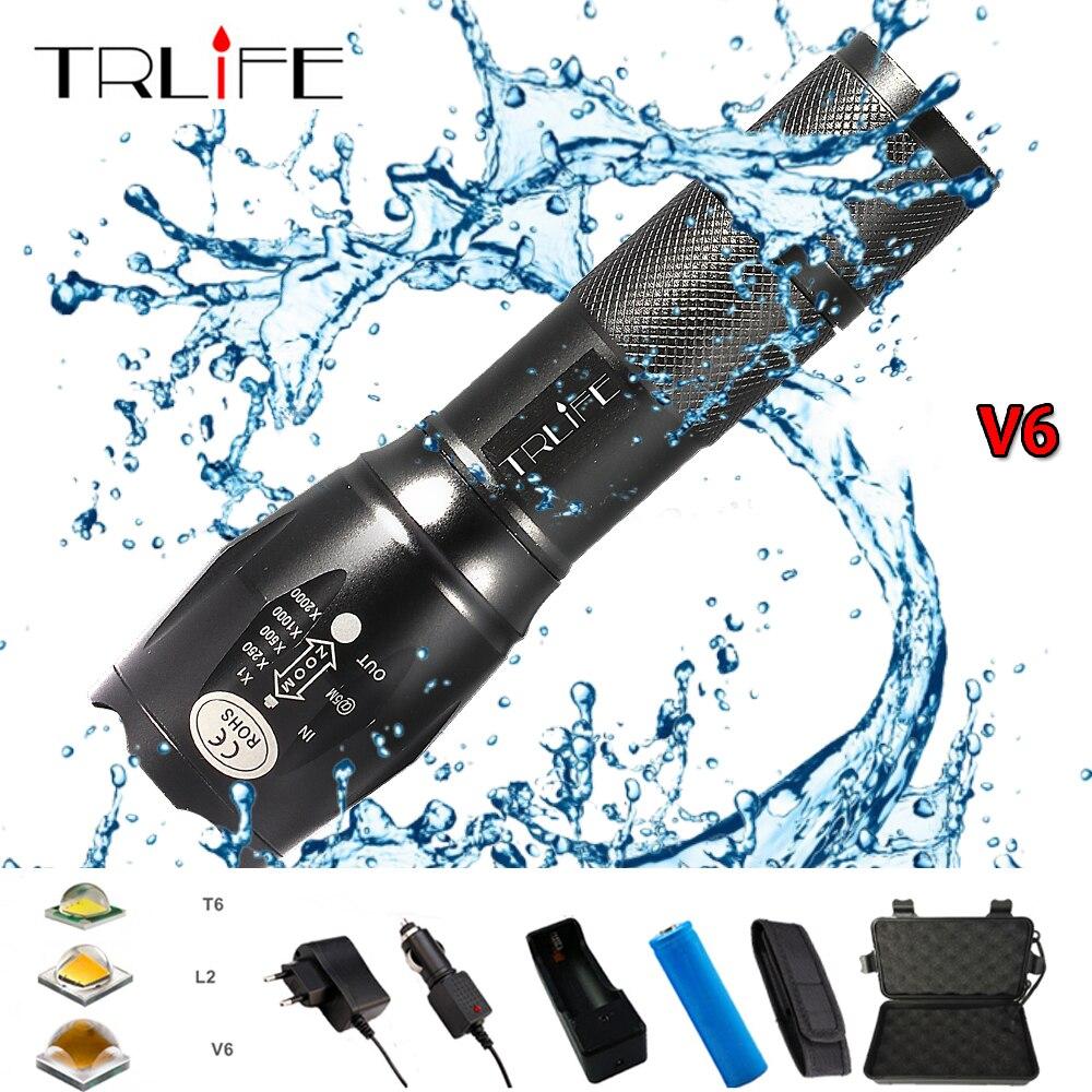 Ultra Lumineux L2 Lampe De Poche réglables Focus avec pince et bracelet
