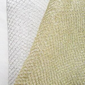 1 stocznia moda tiulowa złota siateczkowa tkanina opakowanie na prezent urodzinowy srebrna przędza dekoracja ślubna boże narodzenie DIY wystrój nowego roku tkanina Tissu