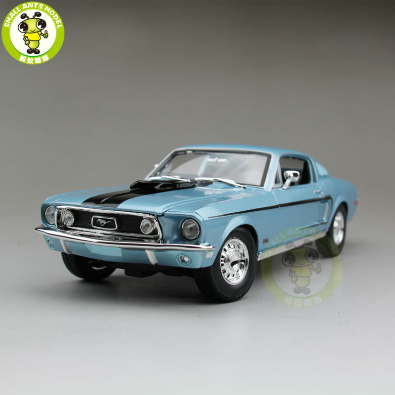 1 18 1968 ford mustang gt cobra jet maisto model diecast car model for gifts collection hobby in. Black Bedroom Furniture Sets. Home Design Ideas