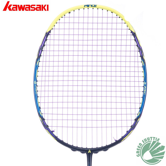 2018 New Arrival Kawasaki 30T Extreme Carbon Badminton Racket Force F7 F8  F9 Box Frame Badminton Racket With Free Gift 2bbd58767ad63