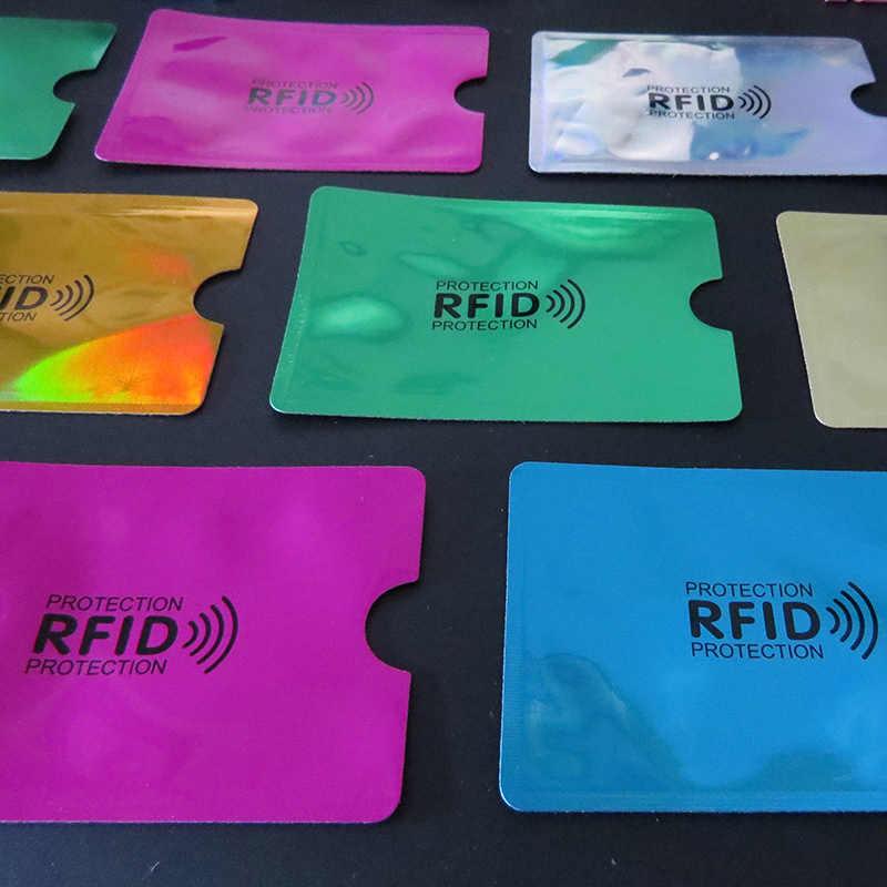 5 stk/set Anti Rfid Portemonnee Blokkeren Reader Lock Bank Kaarthouder Bankkaart Bescherming Metalen Creditcardhouder Aluminium 6.2*9.2 cm