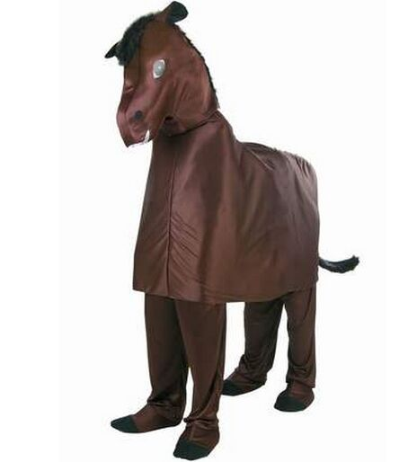 Double wear horse costume adult 2 person horse costume animal cosplay two-men anime costume for adults