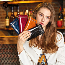 Cowide Leather Women Wallet 2019 Oil Leather Wallet Long Zipper Coin Bag Card Holders Famous Brand Clutches Purse For Women