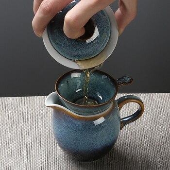 Vassoio Del Tè Insieme Di Tè Celadon Oro Dipinto A Mano Menzione Fascio Kung Fu Insieme Di Tè Di Una Teiera Sei Tazze