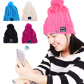 Christmas gift ! New Arrival Bluetooth beanie Smart Cap Knitted Winter Magic Hands-free Music mp3 Hat for woman Men Smartphones