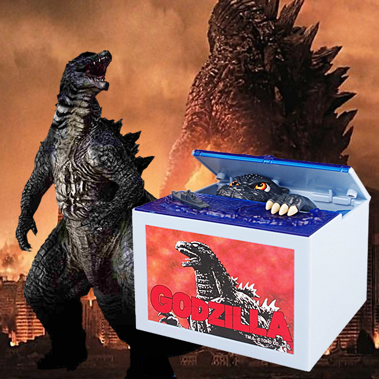 Godzilla Brand New Steal Coin Piggy Bank Electronic Plastic Money Safety Box Coin Bank Money boxes the football game comes to coin money toy box pastic coin cases hidden safe kids piggy bank money toy game bank safe magic jbzq