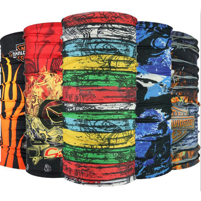 100pcs/lot Seamless Bandana Tubular Outdoors Sport Skull Camo Bandana Microfiber Magic Headband Multifunctional Scarf Headwears