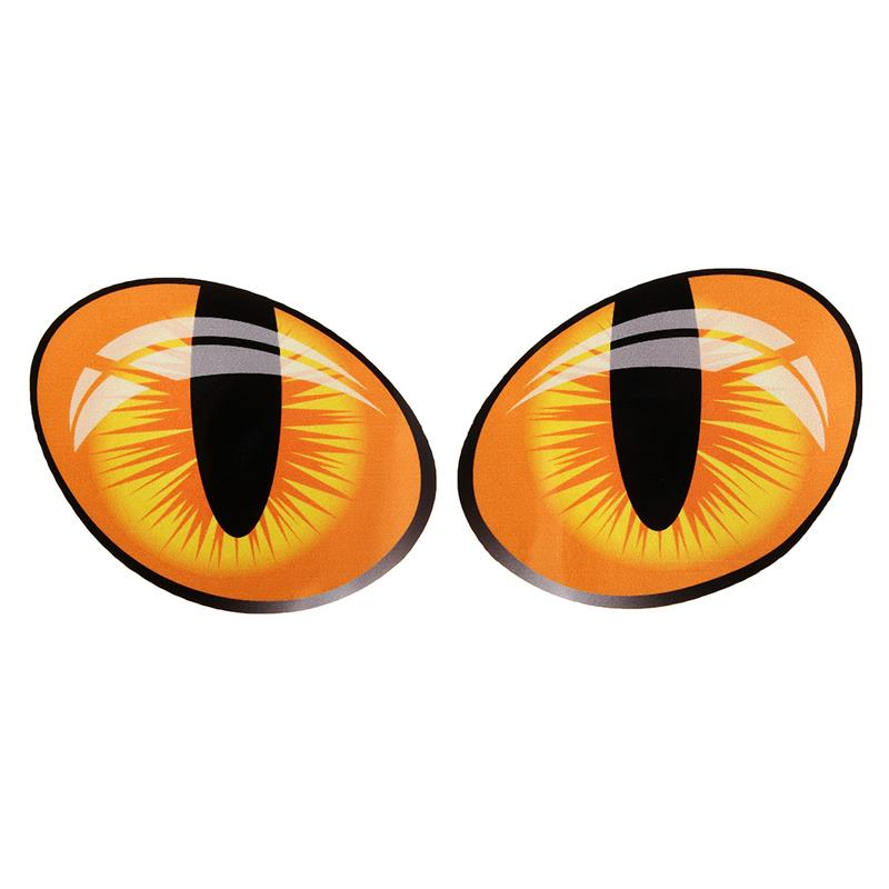 Pair 3D Funny Reflective Cat Eyes Car Stickers 10 x 8cm