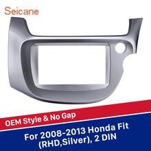 Argento Seicane OEM 2 Din Auto Radio Fascia frame Audio Stereo Pannello di Interfaccia Adattatore per Honda Fit RHD