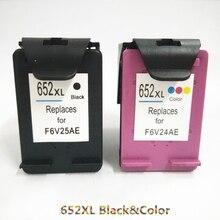 Vilaxh 652 compatible Ink Cartridge Replacement For HP 652xl HP652 xl DeskJet 2136 2138 3635 3636 3835 4535 4675 printer