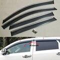 Porta Lateral Moldagem Janela Viseiras Vento Defletor Sol Guarda Chuva Com Escudo Inoxidável Aparar Para Dodge Journey 2009-2015