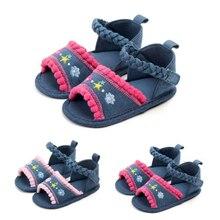 Emmababy новорожденных для маленьких девочек дышащие противоскользящие сандалии на мягкой подошве детский пинетки для младенцев летние От 0 до 1 года