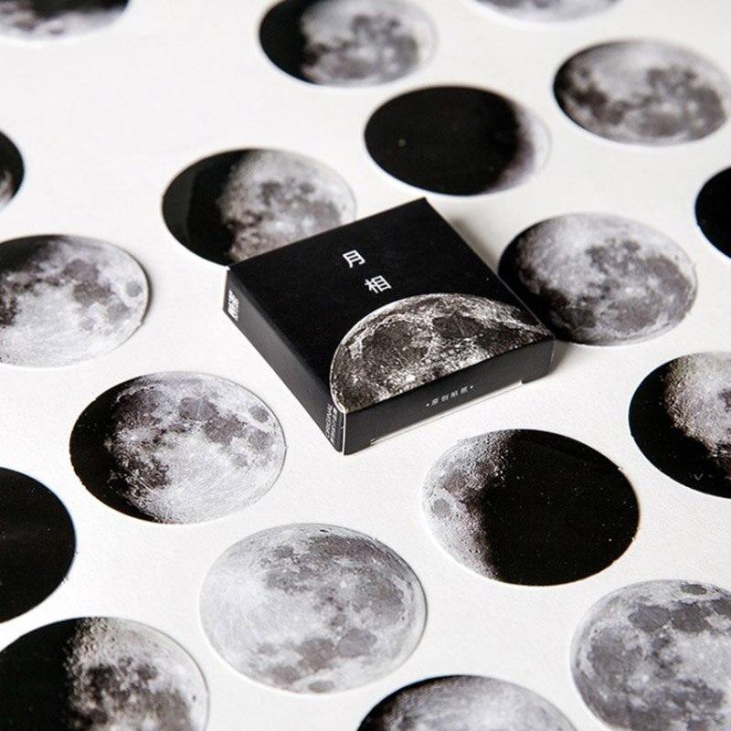 45 шт./кор. канцелярские наклейки парным DIY Планета липкий Бумага Kawaii Луна растения наклейки для украшения дневник в стиле Скрапбукинг - Цвет: Design 1
