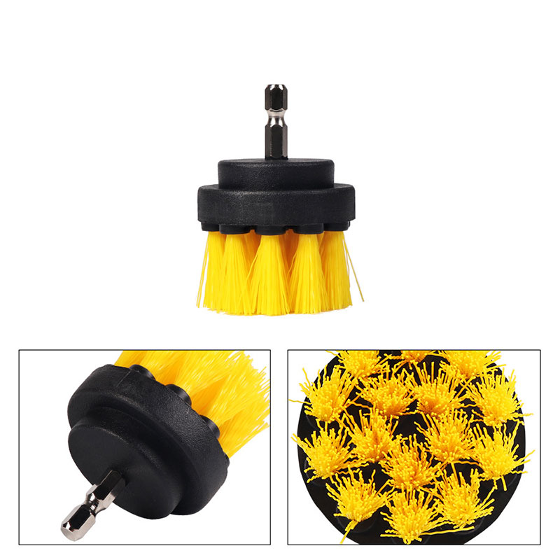 Yellow Cleaning Brushes Set Cleaning Tools Sinker Drill Drill Hole Durable Cleaning Products Churn Drilling Power Scrubber