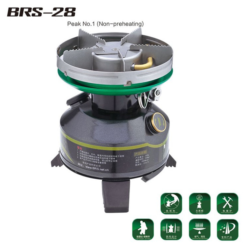 BRS-28 Gasoline Stove Non-preheating Camping Stove Outdoor Gas Stove Field Furnace Picnic Boiler brs portable multi fuel outdoor backpacking camping picnic stove oil gas furnace brs 8