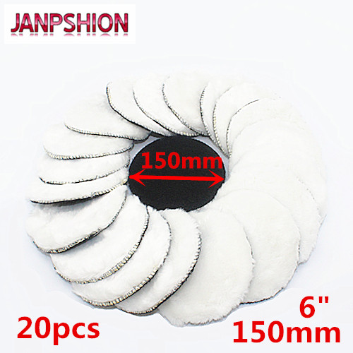 JANPSHION 20pc 150mm Car Polishing Pad 6
