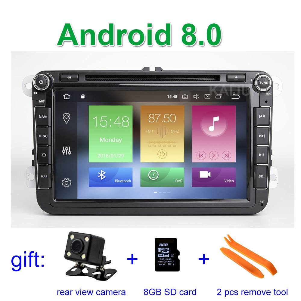 Android 8.0 Voiture Lecteur DVD GPS Radio pour VW PASSAT CC Jetta Golf 5 6 Tiguan Touran Caddy EOS Sharan polo Leon Toledo