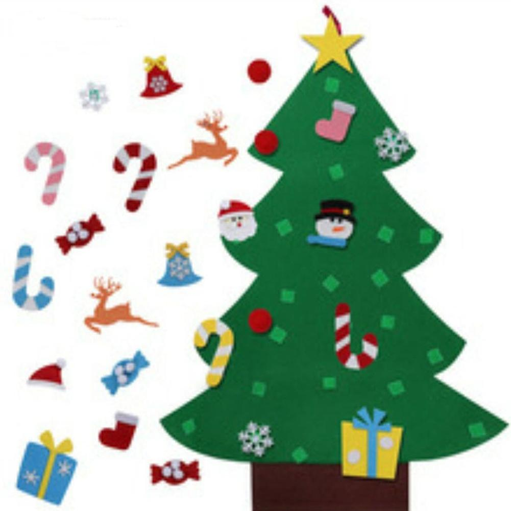 Christmas Tree Toys Handmade.Us 11 59 30 Off Leadingstar Kids Diy Felt 3d Christmas Tree Toy With Ornaments For Manual Classroom Creative Handmade Toys Xmas Gifts Zk30 In Gags