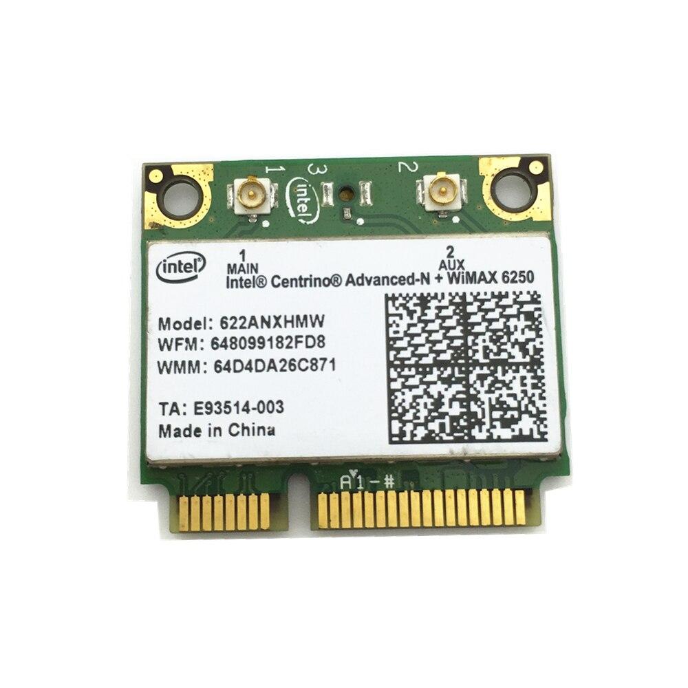 Wireless Card For Centrino Advanced-N + WiMAX Intel 6250 Wireless MINI PCI-E Dual Band Card 622ANXHMW 802.11a/b/g/n 300 Mbps