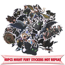48pcs How to train your dragon Night fury cartoon DIY stickers Cartoon style for PC wall notebook phone scrapbooking E0015