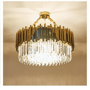 Image 4 - 現代のクリスタルシャンデリアリビングルームダイニングルームゴールドクリスタルシャンデリア Led ライト照明 LED シャンデリア豪華な
