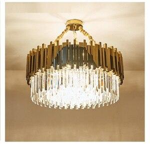 Image 4 - Moderno Lampadario di Cristallo per Soggiorno Sala da Pranzo Oro Lampadario di Cristallo Ha Condotto Le Luci di Illuminazione a Led Lampadario di Lusso