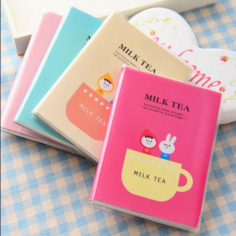 Cute Kawaii Notebook Cartoonl Diary Planner Notepad For Kids Gift Korean Stationery Milk Tea Writing Book