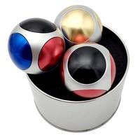 New Soccer Hand Spinner Rainbow Finger Football Fidget Spinner Metal Brass Spiner Comes With Metal Box