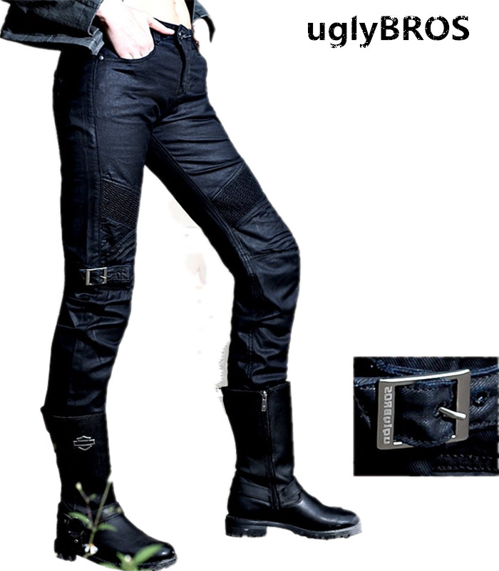 UglyBROS johnny ubs08 font b jeans b font over rubber windmill motorcycle pants style moto pants