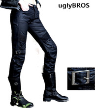 UglyBROS johnny ubs08 jeans over rubber windmill motorcycle pants style moto pants racing jeans size: 25 26 27