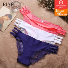 c68188815e5 Seamless Panty 3Pcs lot Lace Briefs For Women Hollow Out Lace Panties  Female Underwear Fashion