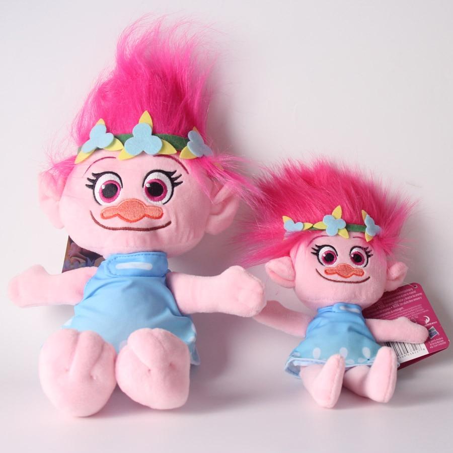 Legújabb film Trollok Plüss babák Mák ág Fiú és lány Karácsonyi baba játékok Kid Xmas ajándék 23 / 36cm