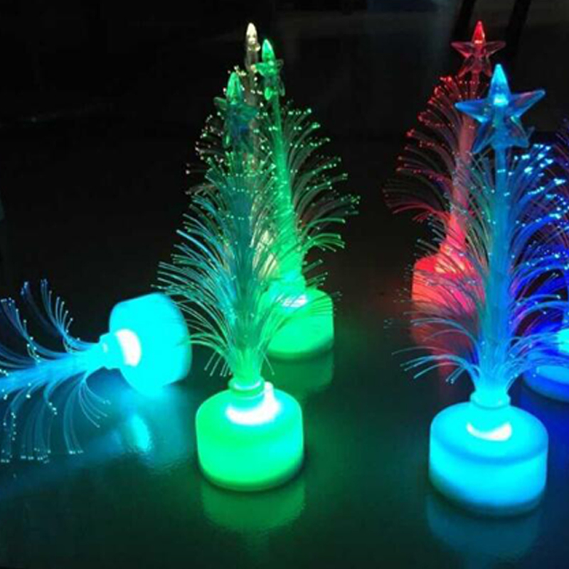 Christmas Tree 7 color Changing Colorful Fiber Optic Nightlight Christmas Tree PartyIndoorHolidayChristmas Decor (9)