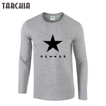 TARCHIA Mens T Shirt Slim Fit Crew Neck T-Shirt Men Geometric Printed Long Sleeve Casual Tshirt Tee Tops 2021 Tees - discount item  45% OFF Tops & Tees